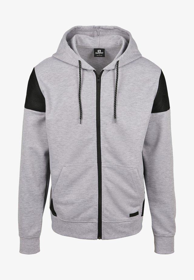 veste en sweat zippée - heather grey