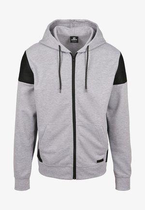 Zip-up hoodie - heather grey