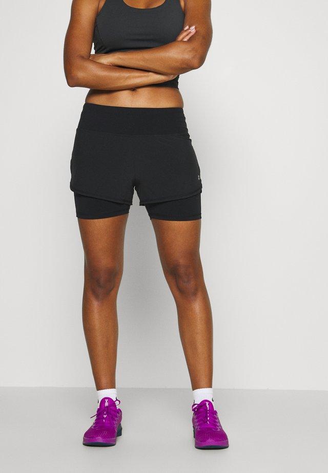 CHALLENGE RUN SHORTS - Sports shorts - black
