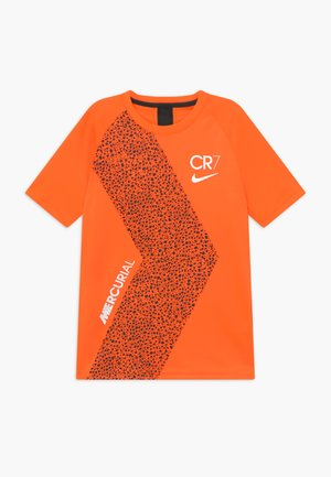 CR7  - Camiseta estampada - total orange/black/white