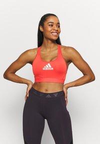 adidas Performance - ASK BRA - Medium support sports bra - crew red - 2
