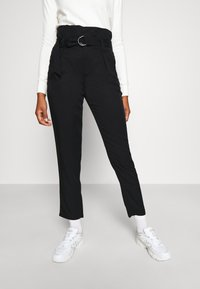 Tommy Jeans - PAPERBAG - Trousers - black - 0