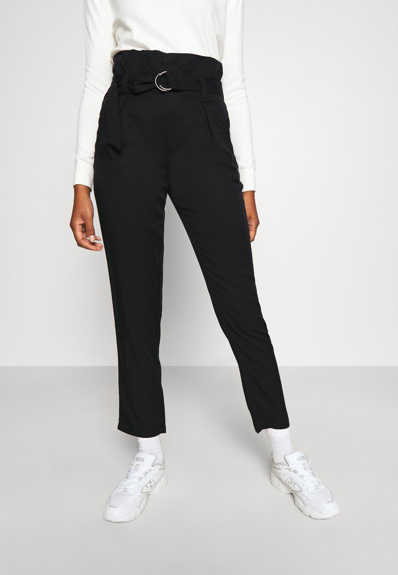 Tommy Jeans - PAPERBAG - Trousers - black