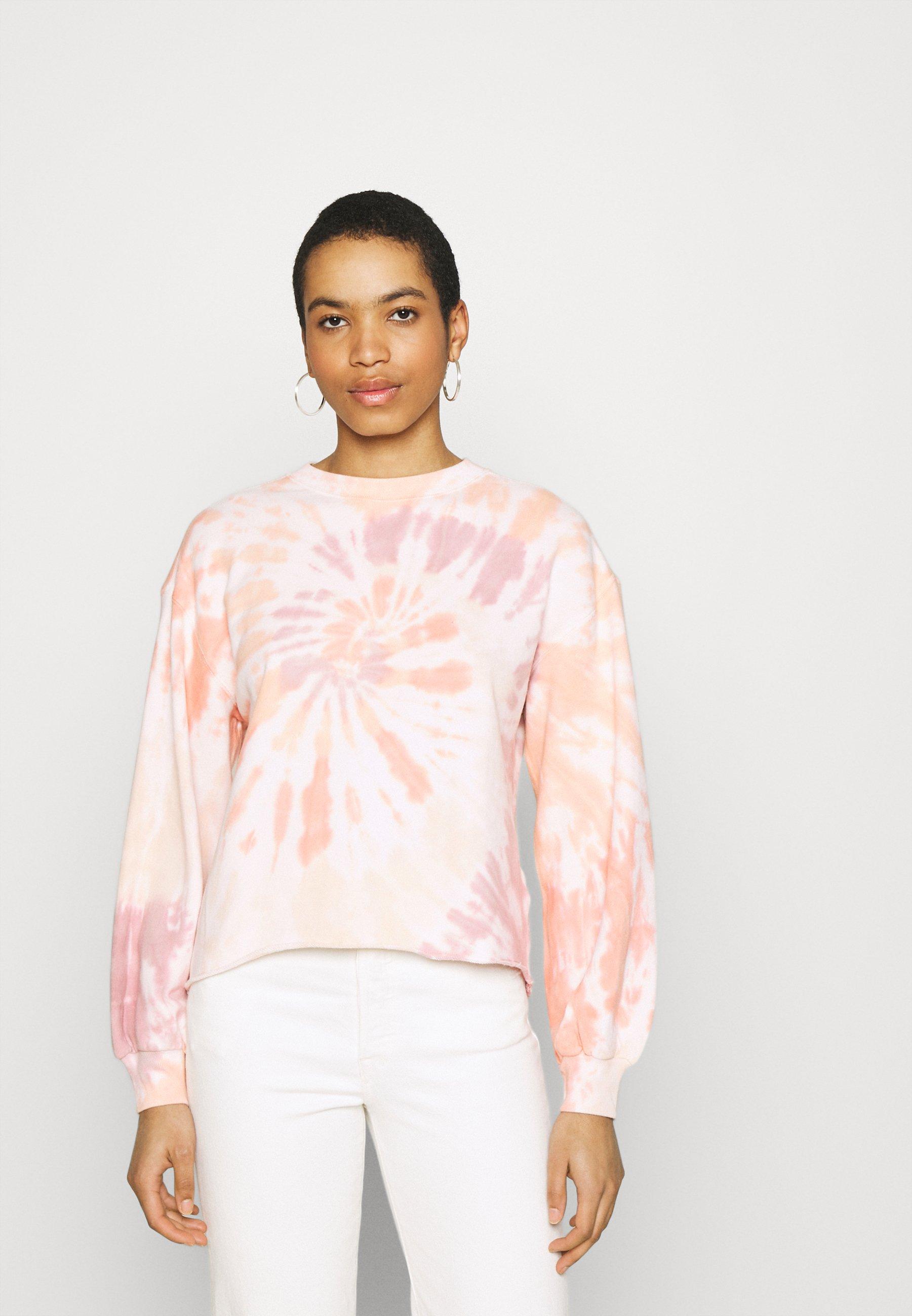 Women TERRY CUTOFF CREW PATTERN - Sweatshirt