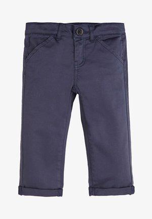 PANTALON EN SATIN - Trousers - blue