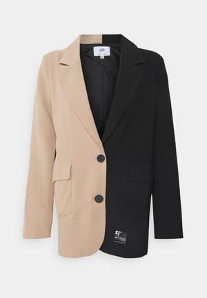 BICOLOR - Blazer - black/beige