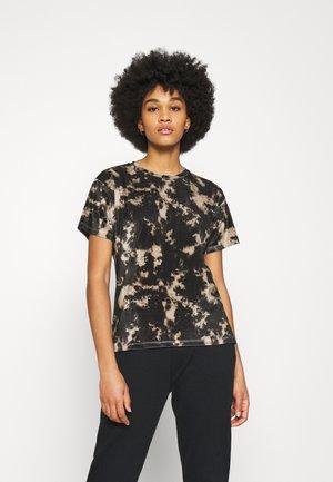 TIE DYE BOXY TEE - Print T-shirt - black