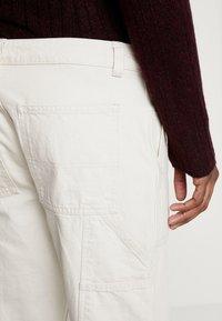 Mennace - TWILL CONTRAST CARPENTER - Trousers - ecru - 3
