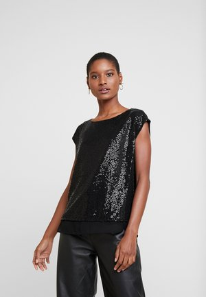 SEQUINS - Blouse - black