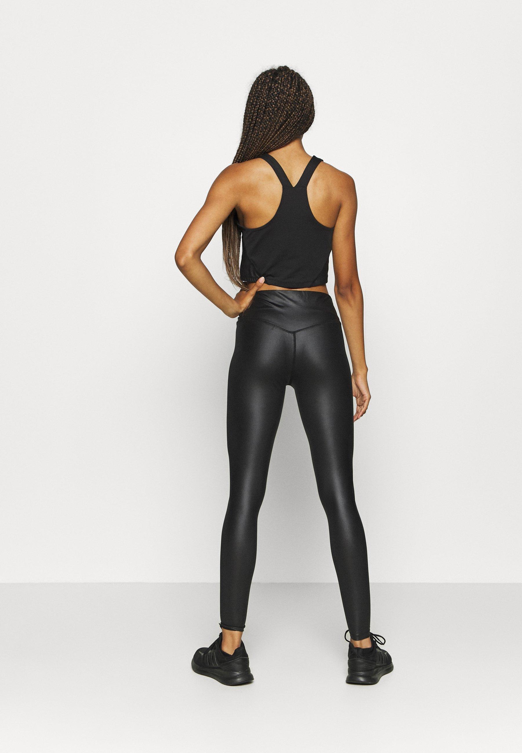 South Beach SHINE WAIST LEGGING - Leggings - black EzxUd
