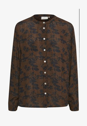 Blouse - mustang- black leaves