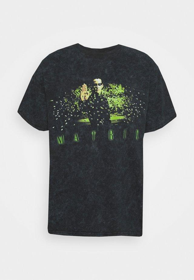 MATRIX TEE - T-shirt z nadrukiem - black
