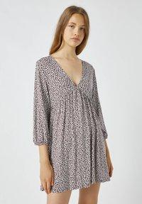 PULL&BEAR - Day dress - mottled light brown - 0