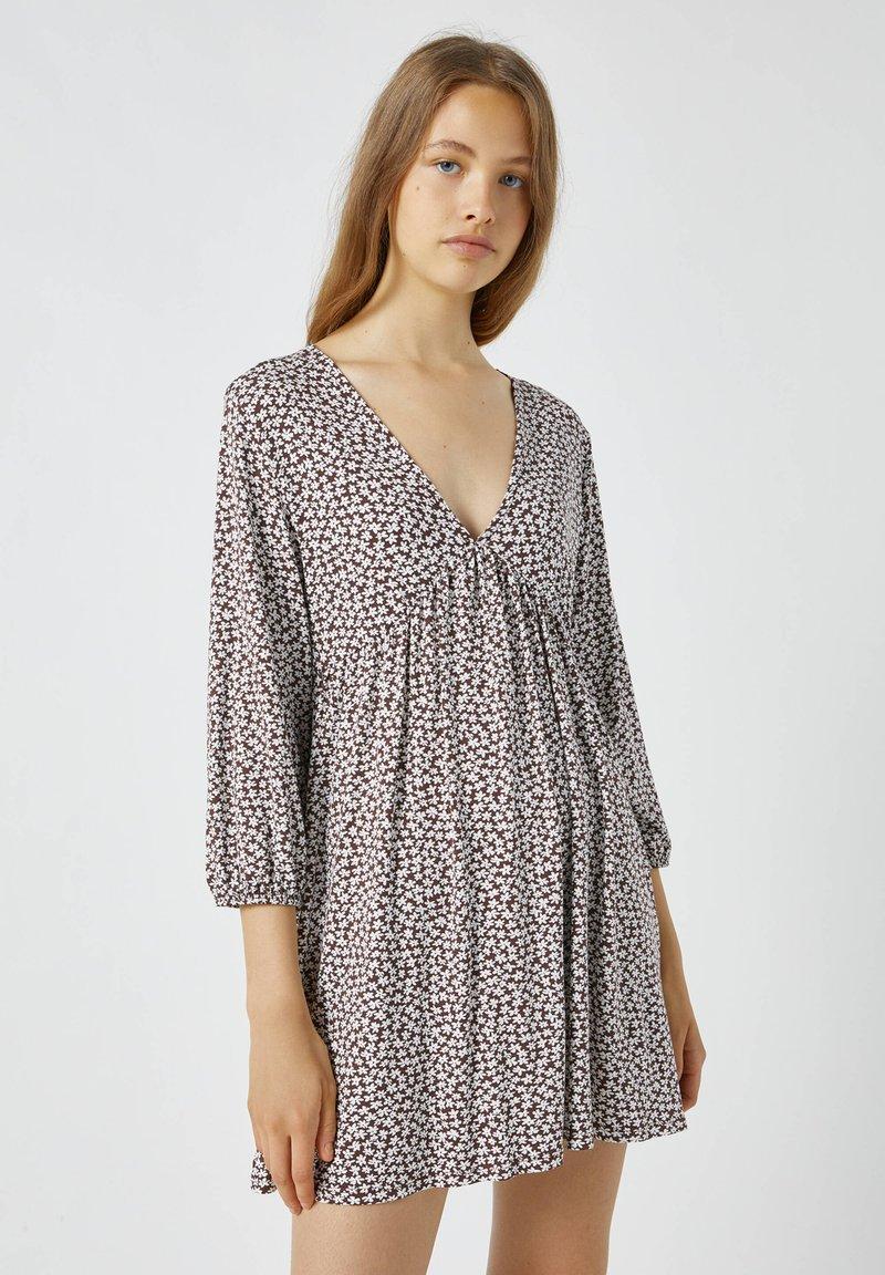 PULL&BEAR - Day dress - mottled light brown