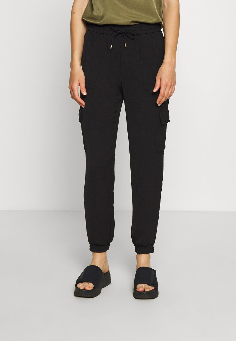 ONLY - ONLNEVIE SONJA LIFE  STRING PANT - Trousers - black