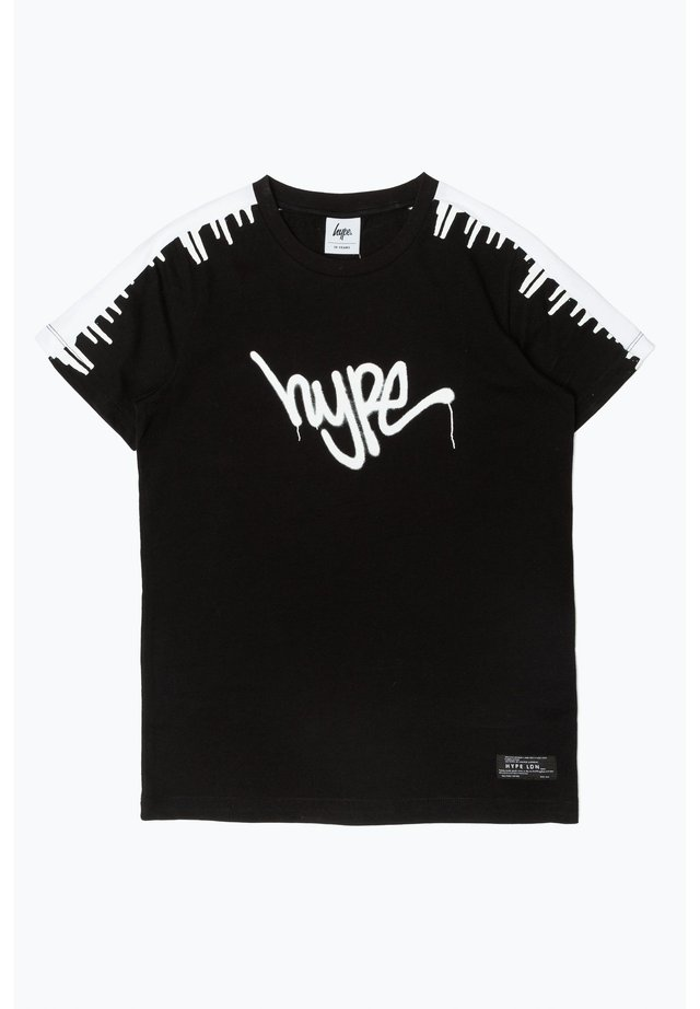 GRAFFITI - Print T-shirt - black/white