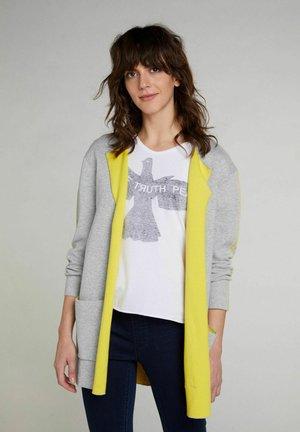 Cardigan - grey yellow
