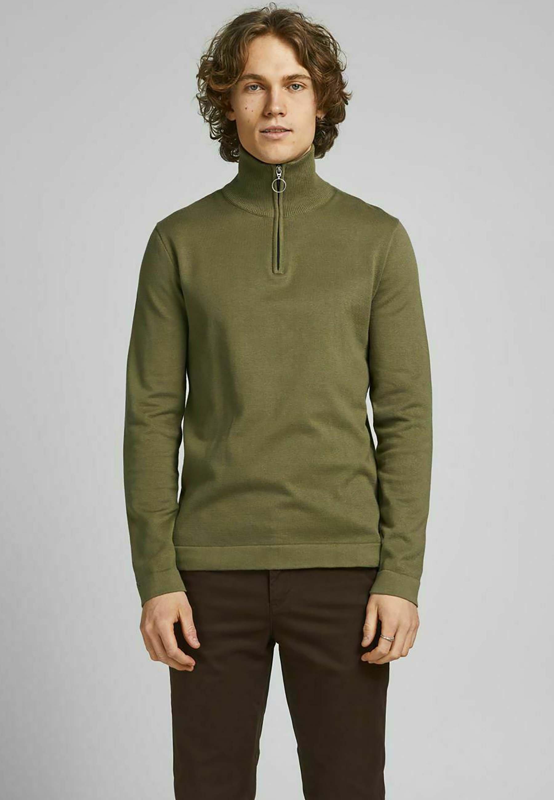 Homme JORELI HIGH NECK ZIP - Pullover