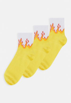 LOTTA SPORT SOCK 3 PACK - Ponožky - yellow bright