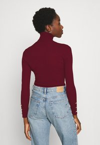 Missguided - ROLL NECK  - Trui - burgundy - 2