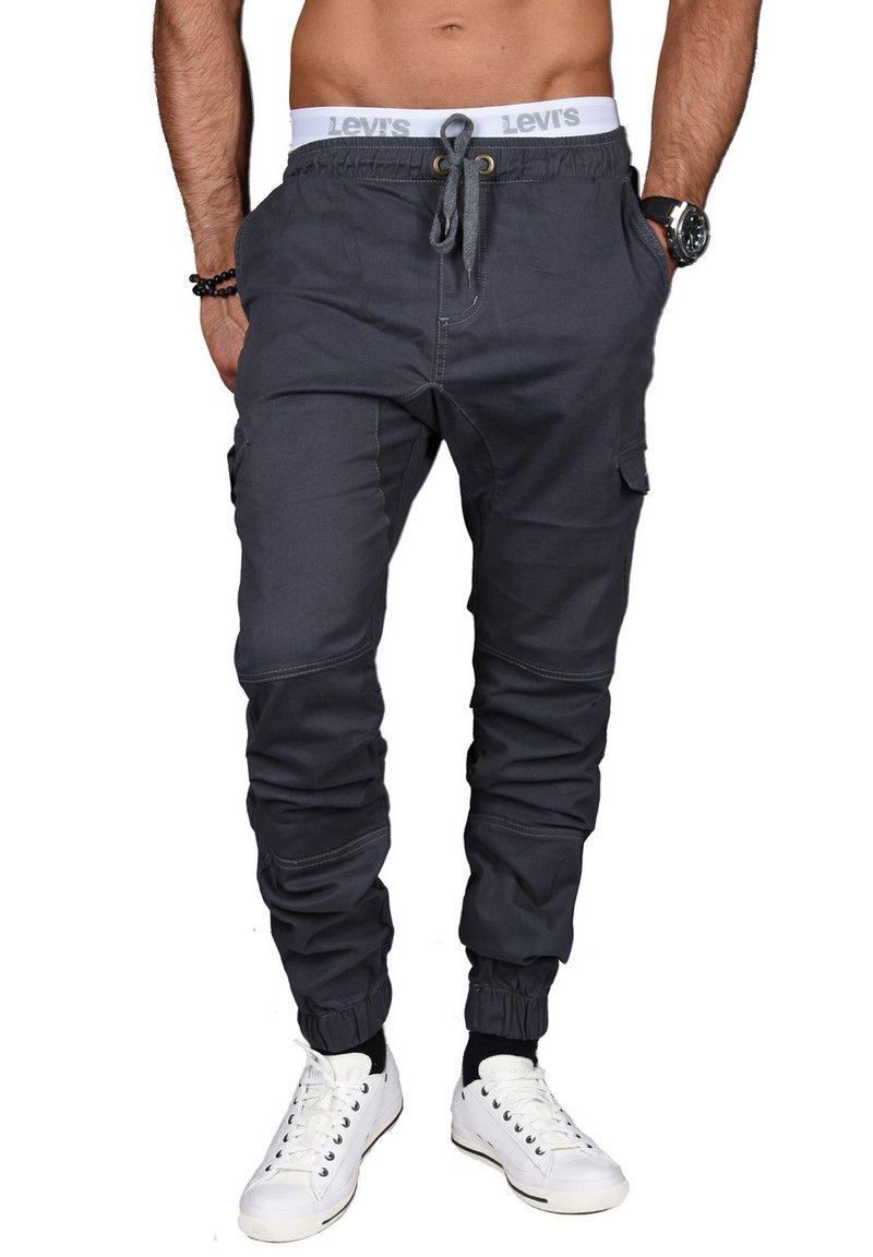 Alessandro Salvarini - DESIGNER - Cargo trousers - anthrazit