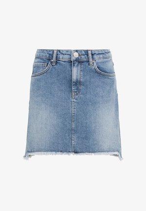CANDIANI  - A-line skirt - light blue denim