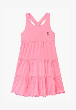 SMALL GIRLS - Jersey dress - neon azalee