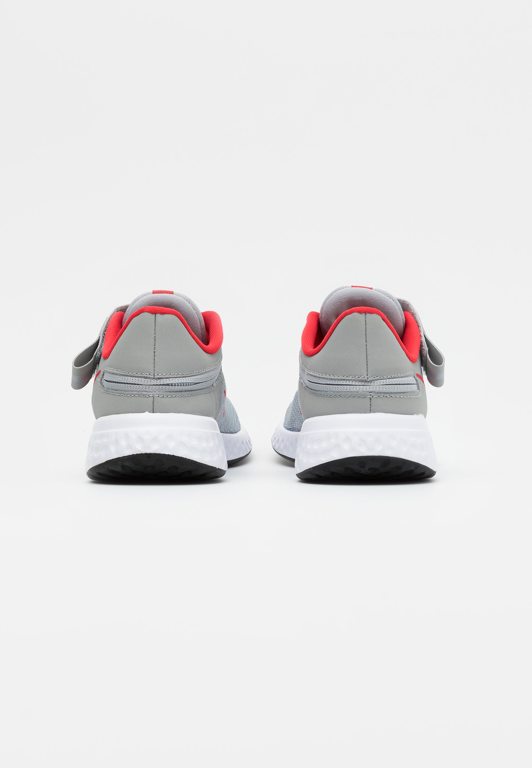 Shop For Cheapest Nike Performance REVOLUTION 5 FLYEASE - Neutral running shoes - light smoke grey/university red/photon dust | kids shoes 2020 KXKlD