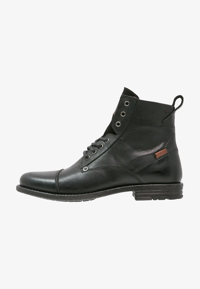 EMERSON  - Bottines à lacets - regular black