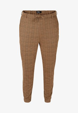 MIT KAROMUSTER - Trousers - brown check