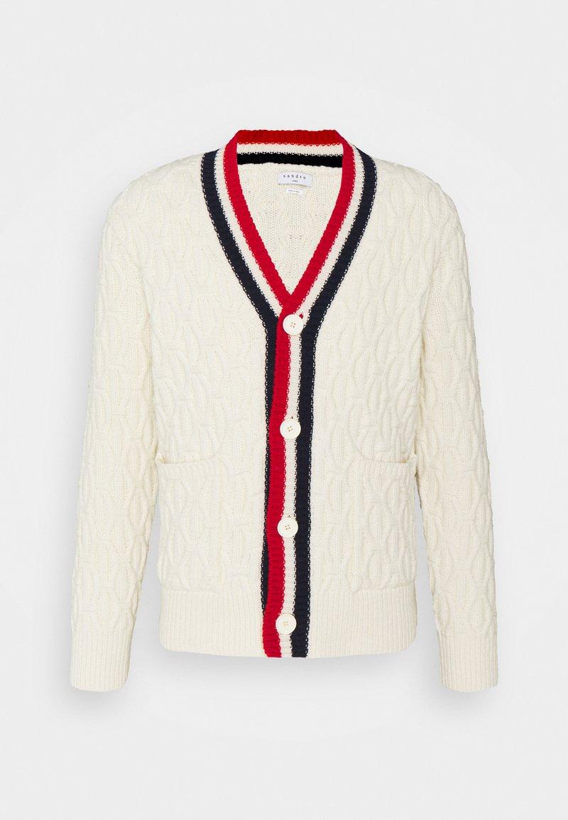 sandro - TWIST CARDIGAN - Cardigan - blanc