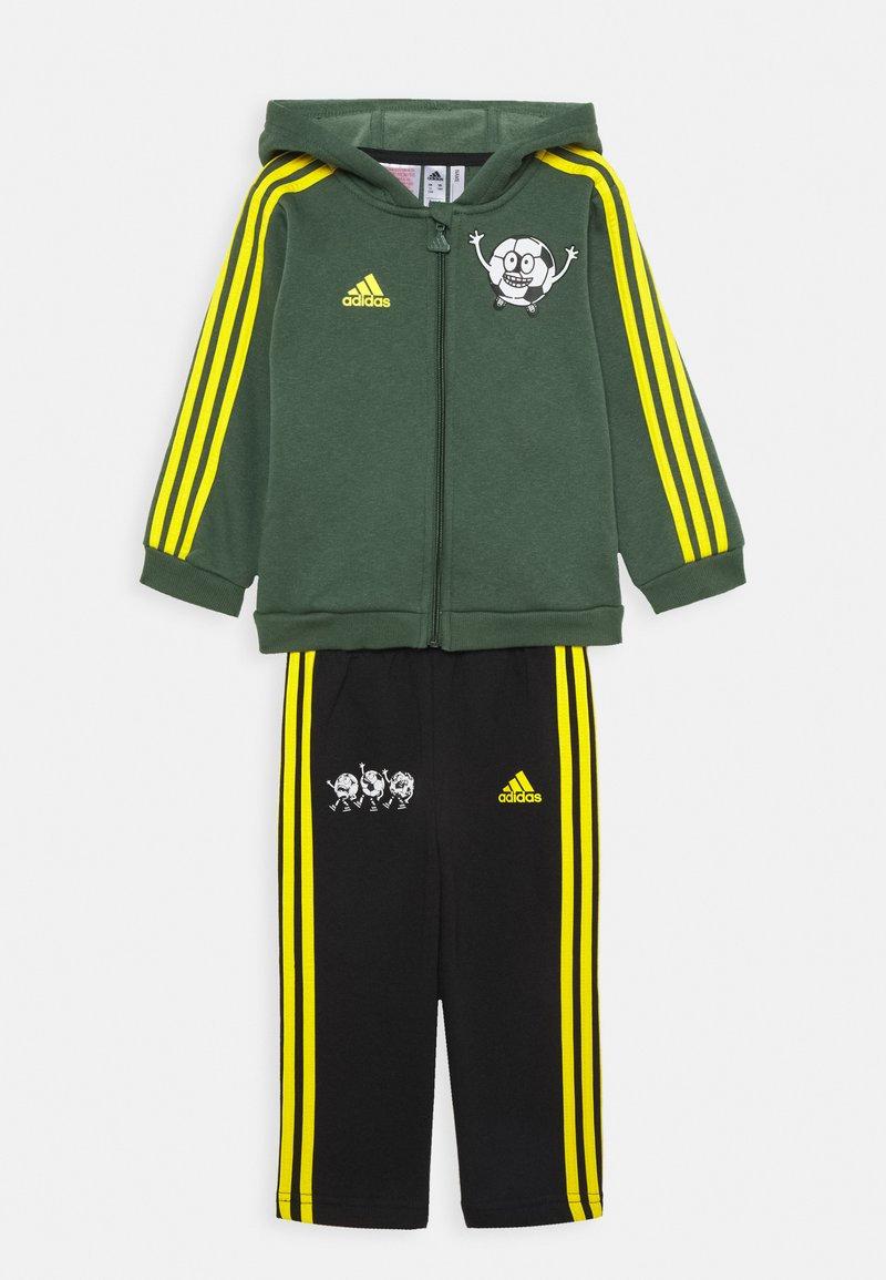 adidas Performance - Tepláková souprava - green oxide/yellow/black