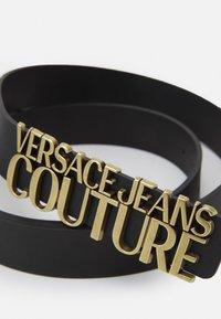 Versace Jeans Couture - LETTERING BUCKLE - Pásek - nero - 3