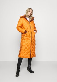 TOM TAILOR DENIM - REVERSIBLE MAXI PUFFER COAT - Winter coat - burnt hazelnut brown