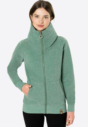BEAST MODE - Sweater met rits - grünmeliert