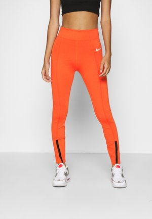 LEGASEE  - Legginsy - mantra orange/white