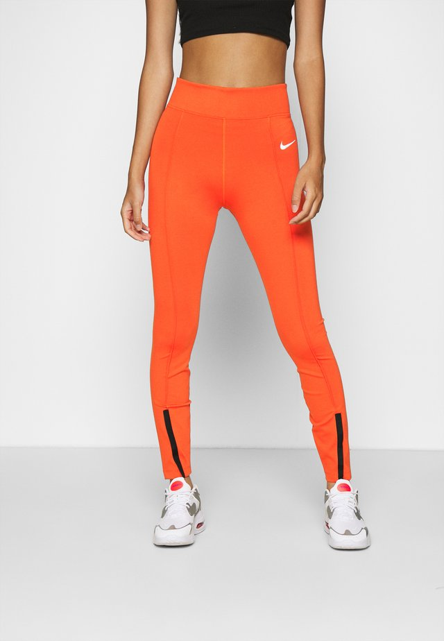LEGASEE  - Legging - mantra orange/white