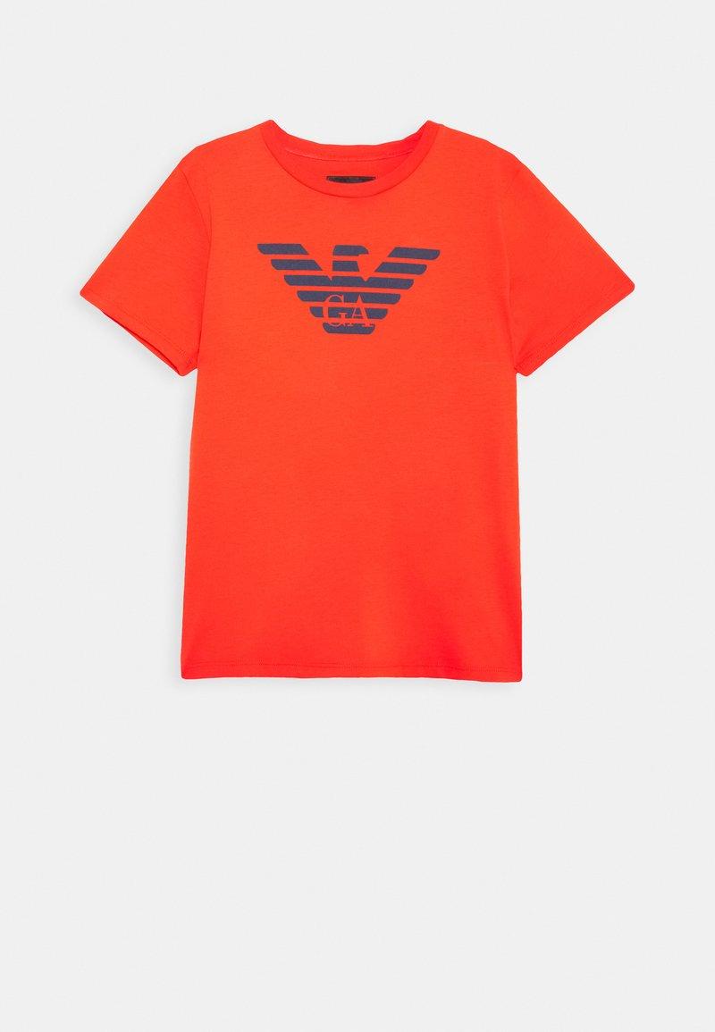 Emporio Armani - Print T-shirt - blu scuro