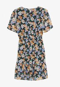 Dorothy Perkins - FLORAL PEPLUM HEM FIT AND FLARE DRESS - Day dress - black - 0