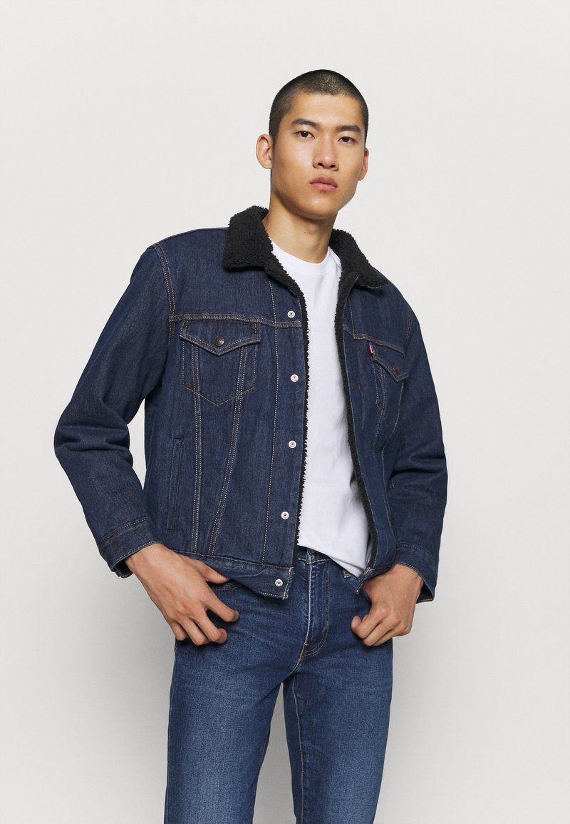 Levi's® - TYPE 3 SHERPA TRUCKER - Kurtka jeansowa - evening