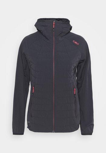 WOMAN FIX HOOD JACKET - Outdoor jacket - antracite