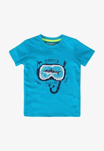 Print T-shirt - turquois
