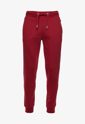 Tracksuit bottoms - rich red marl