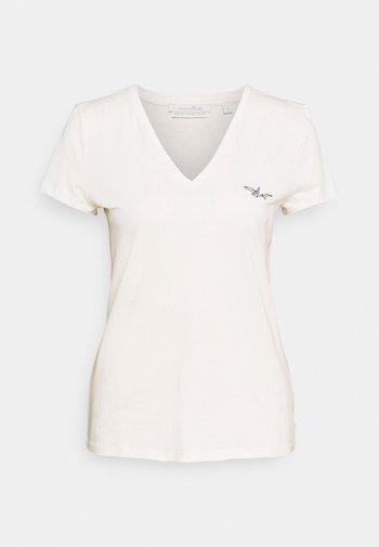 Basic T-shirt - gardenia white