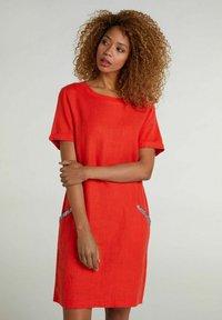 Oui - Jersey dress - fiery red - 0