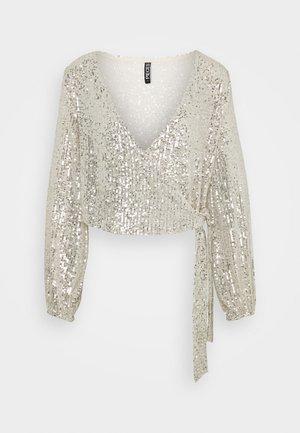 PCDELPHIA WRAP - Bluse - silver