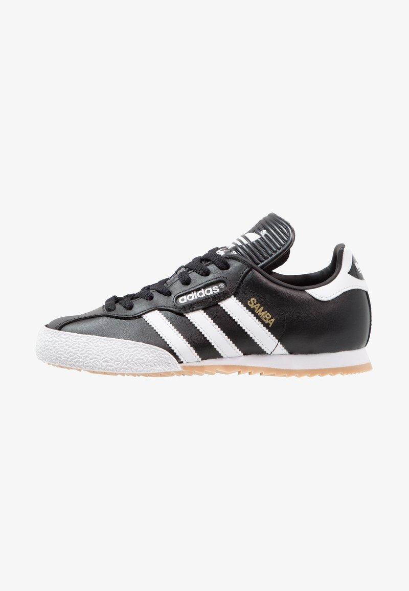 adidas Originals - SAMBA SUPER - Trainers - black/running white/footwear white
