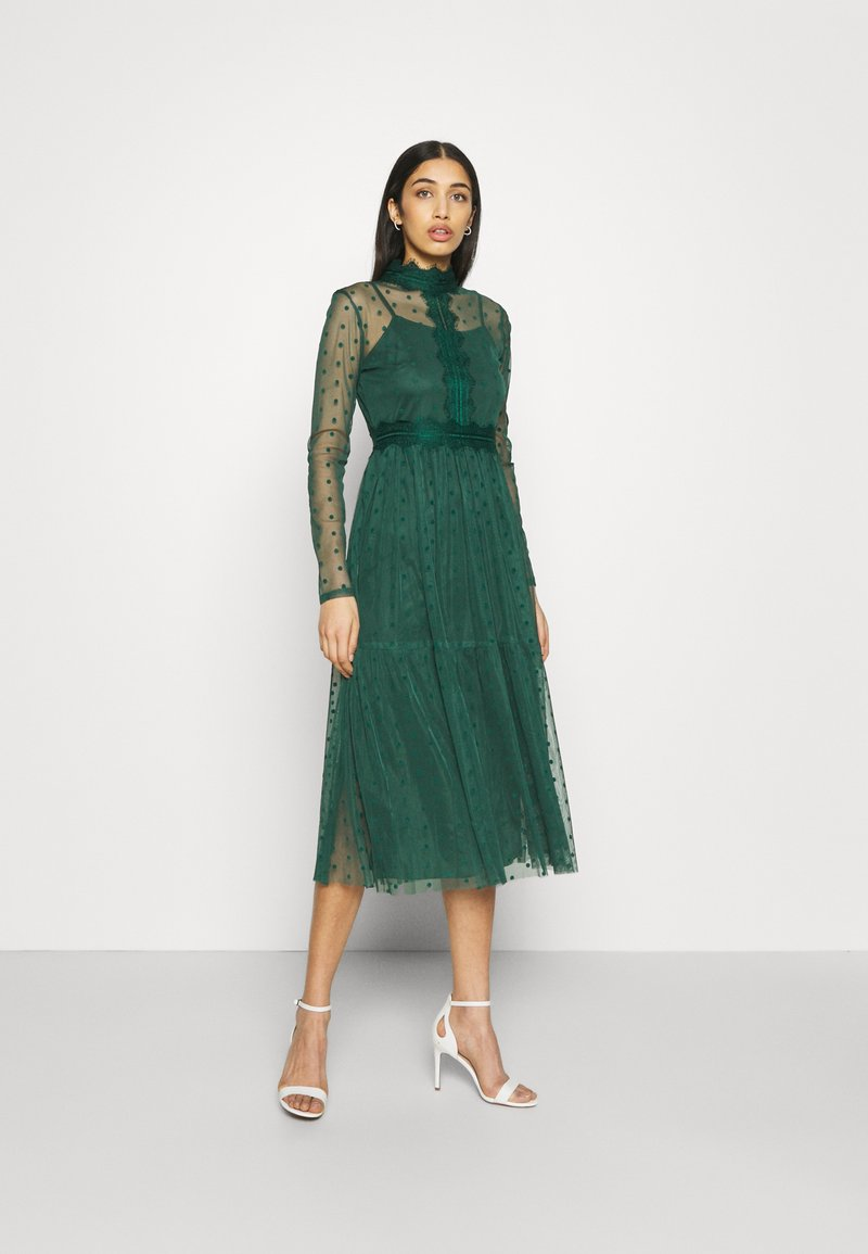 Lace & Beads - ROMANLOLA MIDI - Cocktail dress / Party dress - emerald green