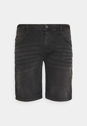 SCRATCHES - Denim shorts - denim black