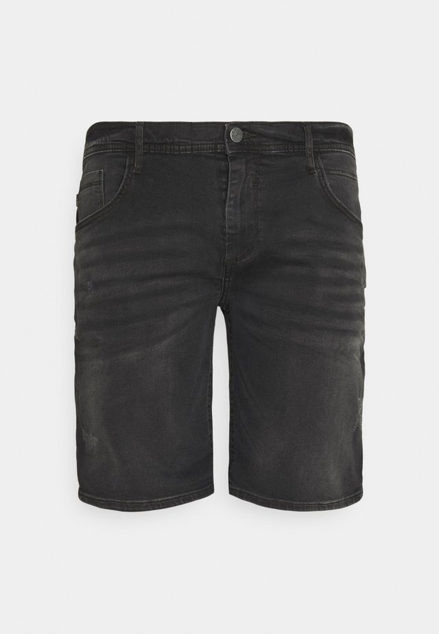 SCRATCHES - Shorts di jeans - denim black
